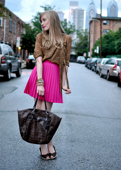 Jenny in Jacquard; NYC fashion blogger; style blog; outfit photos; blogger inspiration; October Breast Cancer Awareness month; how to wear pink; Kimberly Pesch of Eat.Sleep.Wear