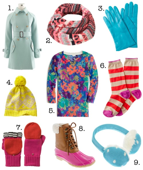 Jenny in Jacquard; NYC fashion blogger; style blog; outfit photos; shopping round up; how to wear bright colors in the winter; J.Crew; Topshop; Kate Spade; Gap; J.Crew Factory