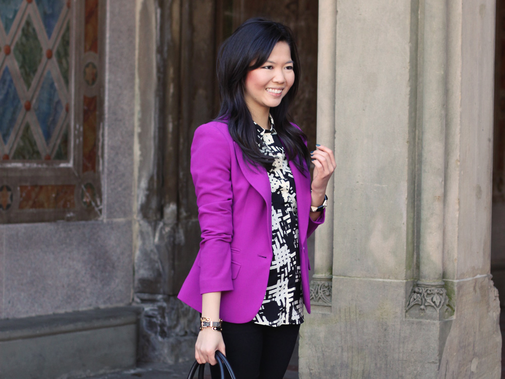 incredible violet blazer outfit