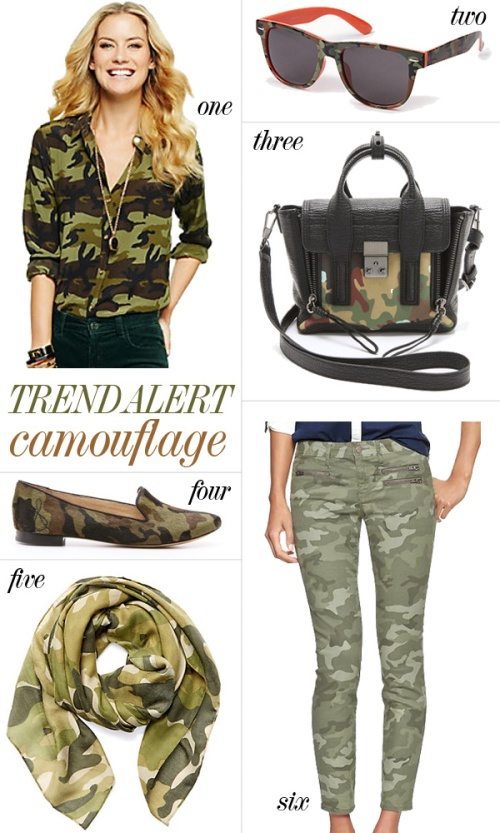 Skirt The Rules Blog; NYC fashion blogger; how to wear camo for fall; C. Wonder silk camo print shirt; 3.1 Phillip Lim Pashli mini satchel in green cheetah/camouflage; Forever 21 Camo Wayfarer Sunglasses; Sam Edelman Alvin Haircalf Loafers in Camo; C. Wonder Camo Scarf; Gap 1969 Always Skinny Camo Jeans